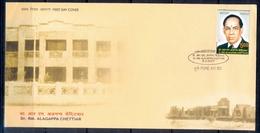 J338- India 2007. Dr R M Alagappa Chettiar. Industrialist & Academician. - Covers & Documents