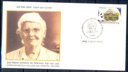 J339- India 2000. Christian Medical College & Hospital. Vellore. Tamil Nadu. Centenary. - Covers & Documents