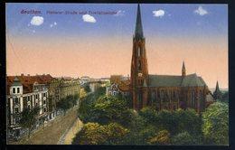 Cpa De Pologne Beuthen Piekarer Strasse Und Trinitatiskirche  NCL87 - Poland