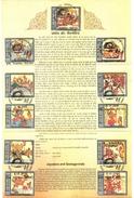J355- Brochure Of  India 2009 Jayadeva & Geetagovinda, Poem, Story, Hindu, God, Hinduism, Religion Religious. - India