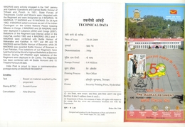 J357- Brochure Of India 2009 FDC The Madras Regiment, Army, Military, Militaria, Armed Forces, Soldier, - India