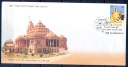 J361- FDC Of India 2009 Jainacharya Vallabh Suri Spiritual Teacher Temple Architecture Book. - India