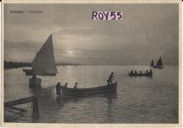 Emilia Romagna-rimini-cattolica Tramonto Veduta Barche A Pesca Anni 30 - Italia