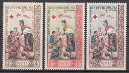 LAOS    SCOTT NO. 85-87    MINT HINGED      YEAR  1963 - Laos