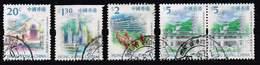 Hong Kong 1999, Michel# 898, 902 Do, 905 + 909 O     Hong Kong Scenery And Landmarks - 1997-... Sonderverwaltungszone Der China