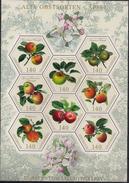 2015 Liechtenstein Mi. 1765-1772 **MNH  Alte Obstsorten (I): Äpfel. - Blocks & Sheetlets & Panes