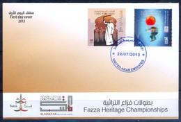J372- UAE. United Arab Emirates 2013. FDC Faza Heritage Championships - United Arab Emirates