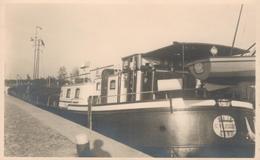 Schooten Fotopostkaart 12-10-1946 Schip M.S.Naja G.Vlieghe Gand - Recto-verso - Schoten
