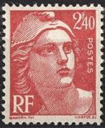 France - YT 714 - Marianne De Gandon (1945-47) - Rouge - NEUF ETAT IMPECCABLE - France