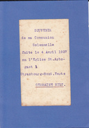 STRASBOURG.MONT-VERTE...1937 - Communion