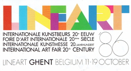 Ticket D'entrée à Lineart (Foire D'art Internationale, Gand - Gent, 11 Au 19/10/1986) - Biglietti D'ingresso