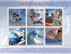 S. TOME & PRINCIPE 2007 - Extreme Sports - Mi 3080-5, YT 2302-7 - Sao Tome En Principe