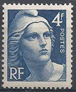 France - YT 725 - Marianne De Gandon (1945-47) - Bleu - NEUF AVEC LEGERE TRACE DE CHARNIERE - France