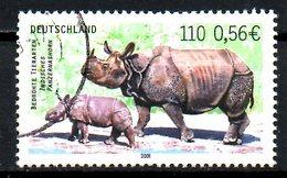 ALLEMAGNE. N°2015 De 2001 Oblitéré. Rhinocéros. - Rhinozerosse