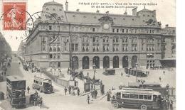 PARIS - ( VIIè Arrt) Vue De La Cour De Rome Et La Gare Saint-Lazare - Métro Parisien, Gares