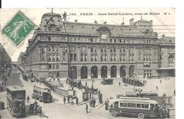 PARIS - Gare Saint-Lazare , Cour De Rome - Métro Parisien, Gares
