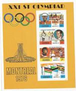 1976  Uganda Montreal Olympics Miniature Sheet Of 4 MNH - Ouganda (1962-...)