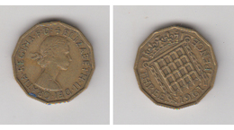 THREE PENCE 1961 - 1971-… : Monnaies Décimales