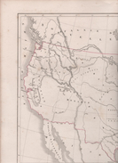 CARTE DES ETATS-UNIS DRESSEE PAR L. DUSSIEUX EN 1846 - LONGITUDE OCCIDENTALE DU MERIDIEN DE PARIS - Maps