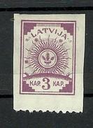 LETTLAND Latvia 1919 Michel 15 Unten Perforiert * - Latvia