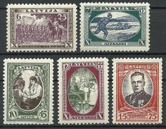 LETTLAND Latvia 1932 Michel 198 - 202 A * - Lettland