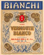 """D6017 """"BIANCHI & C. BRA (TO) - VINO  VERMOUTH""""   ETICHETTA ORIGINALE - ORIGINAL LABEL - Altri"""