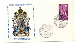 Carta + Tarjeta Con Matasello Commemorativo Bodas De Oro Virgen De Los Desamparados Valencia. - 1931-Hoy: 2ª República - ... Juan Carlos I
