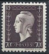 France - YT 687 - Série De Londres. Marianne De Dulac (1945) NEUF SANS CHARNIERE ETAT IMPECCABLE - France