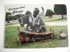 GHANA XYLOPHONE    AFRICA  AFRIQUE   VIAGGIATA - Ghana - Gold Coast