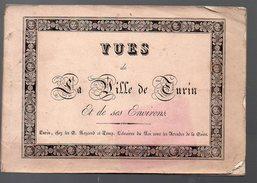 Turin (Italie) Carnet De 18 Vues Lithographiées  ( Sd, XIXe)  (PPP5261) - Toeristische Brochures