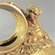 ~ LE CHAT ET LA SOURIS EN BRONZE - Horlogerie Réveil Montre La Fontaine Lelouch - Bronzes