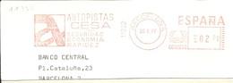 FRANQUEO MECANICO BARCELONA 1977  6X15 FRAGMENTO-FRONT - Marcofilia - EMA ( Maquina De Huellas A Franquear)