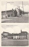 Jamioulx  , La Gare ; La Place Et La Poste ,( Passage à Niveau ) - Ham-sur-Heure-Nalinnes