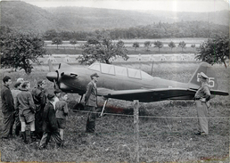 KREUS (autriche En 1956)-  Deux Polonais S'enfuient De Varsovie Et Atterrissent à Kreus (photo Format 18x13cm) - Aviazione