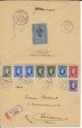 SLOVAQUIE - 1939 - ENVELOPPE RECOMMANDEE De BRATISLAVA Avec VIGNETTE AU DOS => SOISSONS (AISNE) - Slovaquie