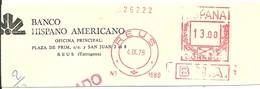 FRANQUEO MECANICO REUS 1978 6X15 FRAGMENTO-FRONT - Marcofilia - EMA ( Maquina De Huellas A Franquear)