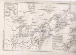 CARTES POUR SERVIR A L'HISTOIRE DE LA NOUVELLE FRANCE OU DU CANADA JUSQU'EN 1763 DRESSEES PAR L. DUSSIEUX EN 1851 QUEBEC - Carte Geographique
