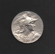 """Médaille En Laiton Façon Argent . """"Commité Central Des Chambres Syndicales . Attribuée . - Monetary / Of Necessity"""