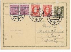 SLOVAQUIE - 1939 - CARTE ENTIER POSTAL De BRATISLAVA => PARIS - Slovaquie