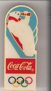 Pin Coca-Cola - Olympia / Eisbär Als Rodler - Coca-Cola