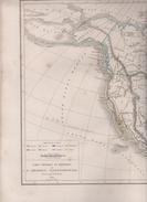 CARTE PHYSIQUE ET POLITIQUE DE L'AMERIQUE SEPTENTRIONALE DRESSEE PAR L. DUSSIEUX EN 1845 - AMERIQUE RUSSE / ETATS UNIS - Geographical Maps