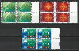 SBK 642-44, Mi 1184-86 Viererblock O ET - Schweiz