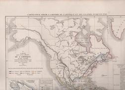 CARTES POUR SERVIR A L'HISTOIRE DE L'AMERIQUE ET DES COLONIES JUSQU'EN 1763  PAR L DUSSIEUX EN 1852 - PAIX DE BREDA 1667 - Geographical Maps