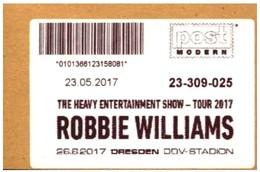 Bund / Post Modern [01129 Dresden]: 'Robbie Williams Tour, 2017' - Privados & Locales