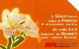 *ITALIA: MESSAGGI FLOREALI - IL GIGLIO* - Scheda Usata (bilingue) - Italia