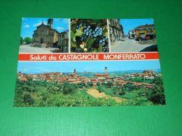 Cartolina Saluti Da Castagnole Monferrato - Vedute Diverse 1982 - Asti