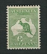 AUSTRALIA 1913 - Kangaroo And Map - ½ D. - MH - Yv:AU 1 - 1913-36 George V : Other Issues