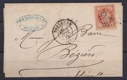 France 1867 - N°31(o) - Toulouse 4/07/1872 - 1863-1870 Napoléon III. Laure