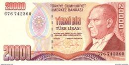 TURQUIE 20000 TURK LIRASI L.1970 (1995) P-202a NEUF [TR280a] - Turkey