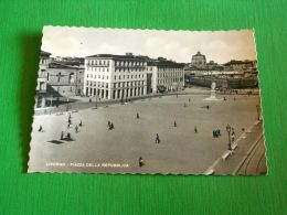 Cartolina Livorno - Piazza Della Repubblica 1955 - Livorno